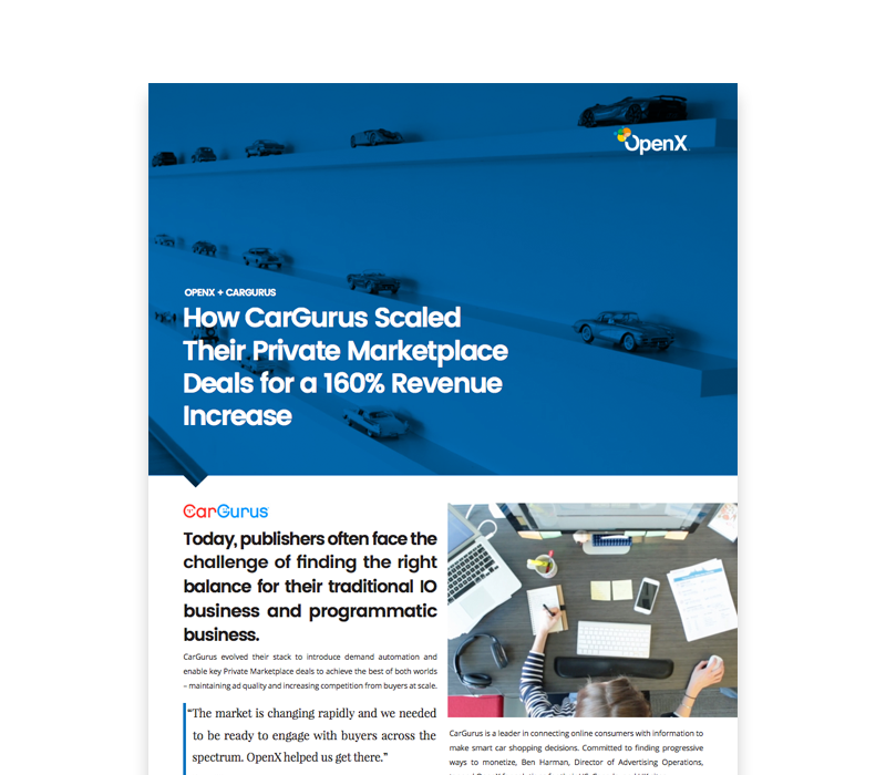 OX CaseStudies Thumbs CarGurus - CarGurus Scales Their Private Marketplace Deals for a 160% Revenue Increase