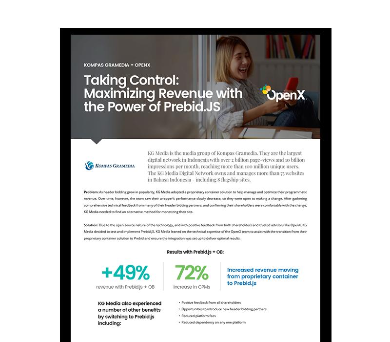 KG MediaCaseStudy Thumbnail - Taking Control: Maximizing Revenue with the Power of Prebid.js